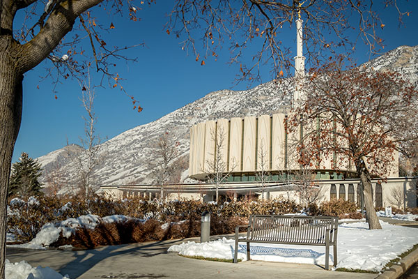 Provo Temple Benches