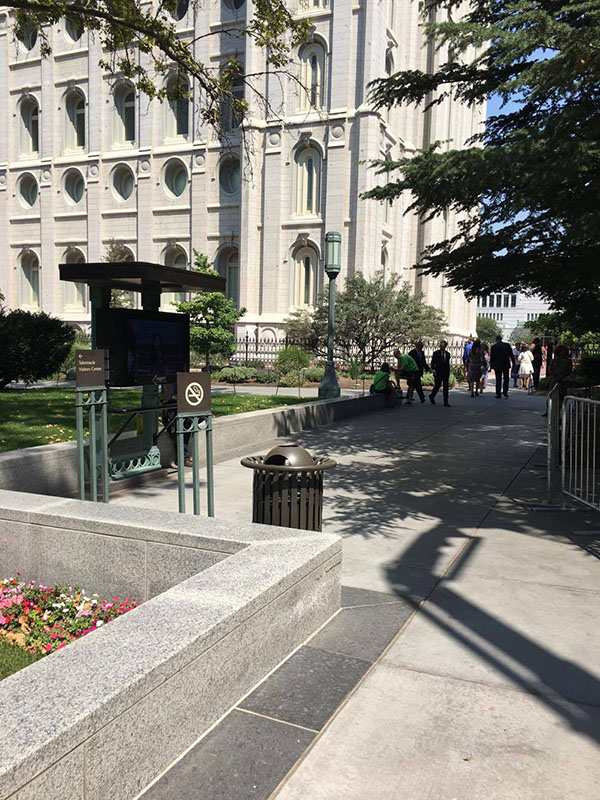 Trash Receptacles For Temple Square